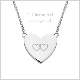 engrave a symbol or text on a charm necklace.