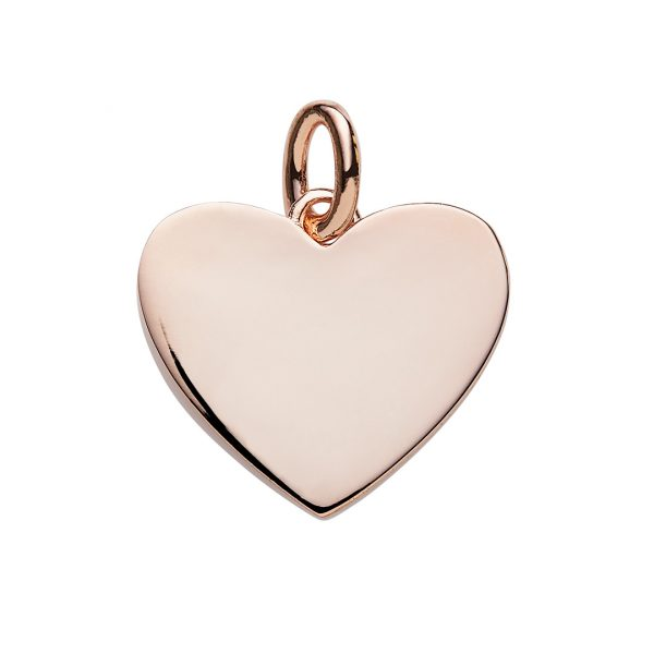 Engraved rose gold heart pendant personalised jewellery silver heart pendant plated with rose gold with free engraving mozeypictures Image collections