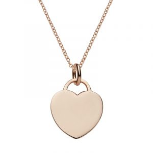personalised jewellery - engraved heart tag pendant