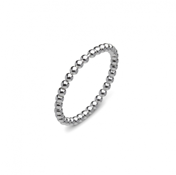 stackable sterling silver ball ring