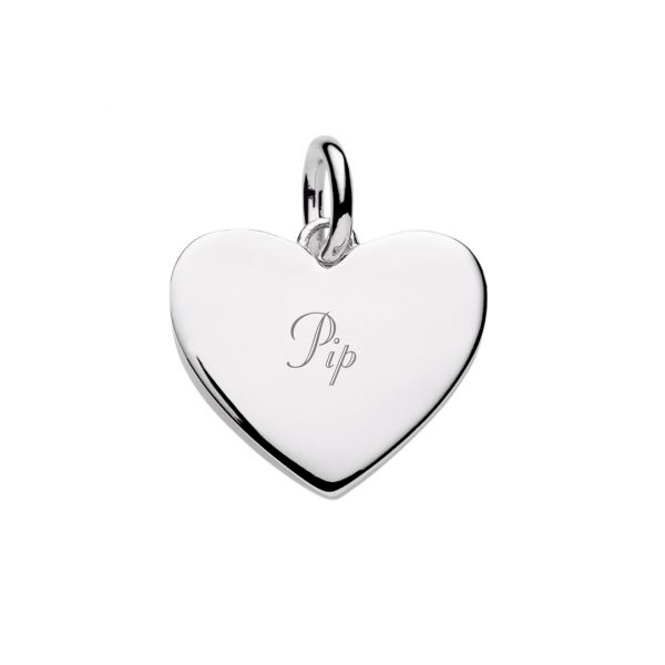Engraved silver heart pendant customise with text symbols custom engraved silver heart pendant aloadofball Gallery