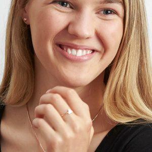 rose gold puffy heart earrings