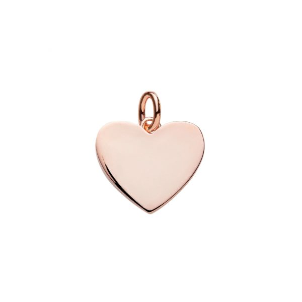 rose gold heart pendant to engrave