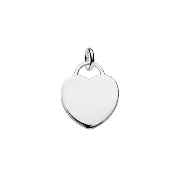 sterling silver heart tag to engrave