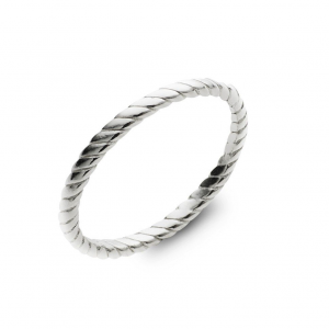 stackable sterling silver twist ring