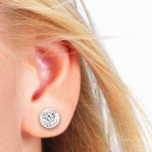 swarovski ball stud earrings