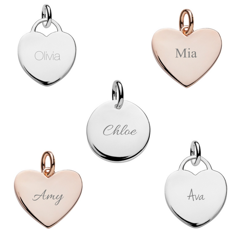 example fonts on name necklace