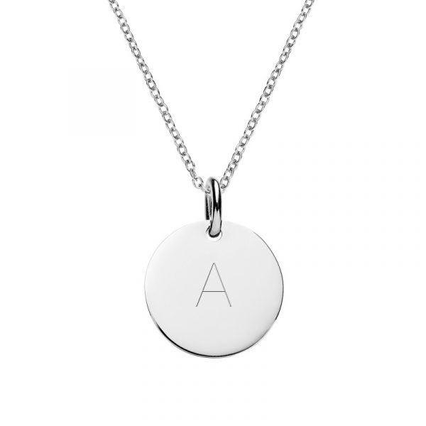 Personalised with letter A , initial necklace from TheSilverStore