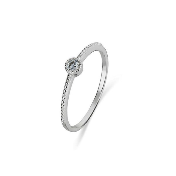 silver cubic zirconia stackable ring