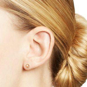 half round stud earrings