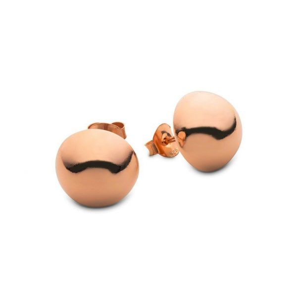 rose gold half round stud