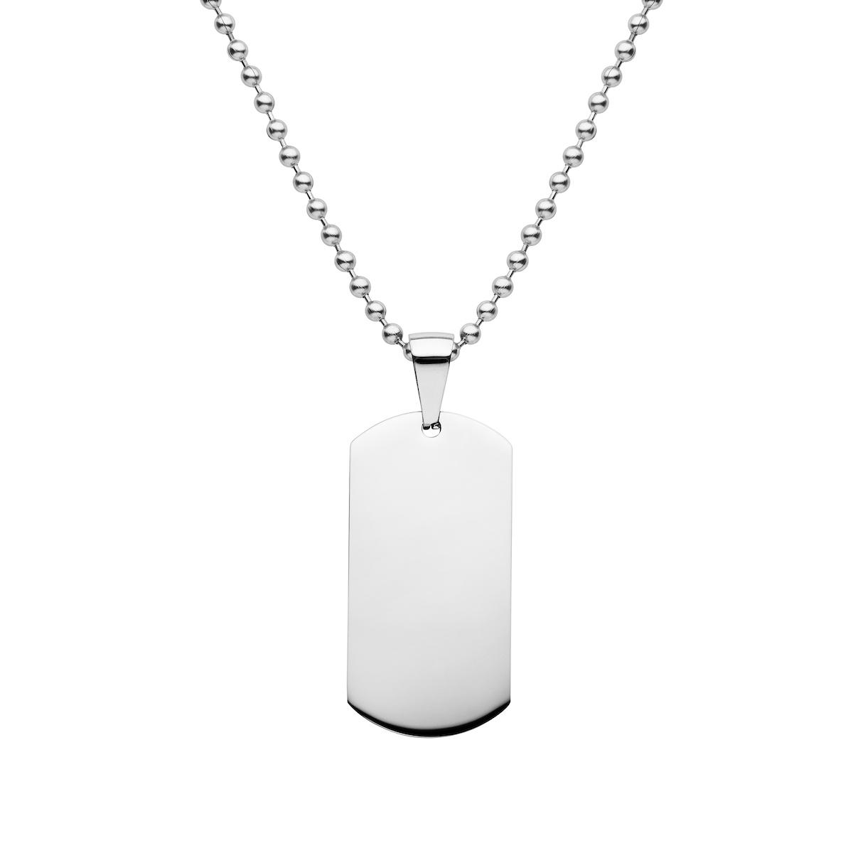 mens steel dog tag necklace
