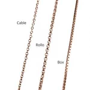 cable, rolo and box necklace chains