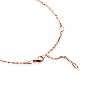 rose gold plated rolo chain 50cm