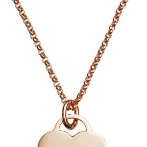 rolo rose gold necklace chain