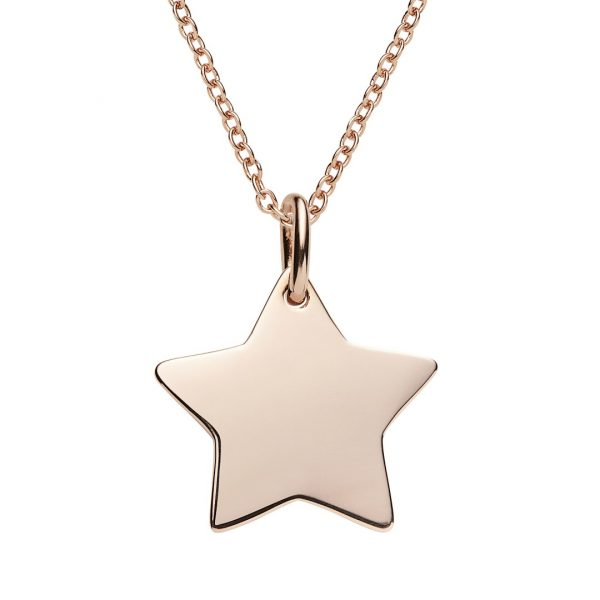 personalisable star necklace