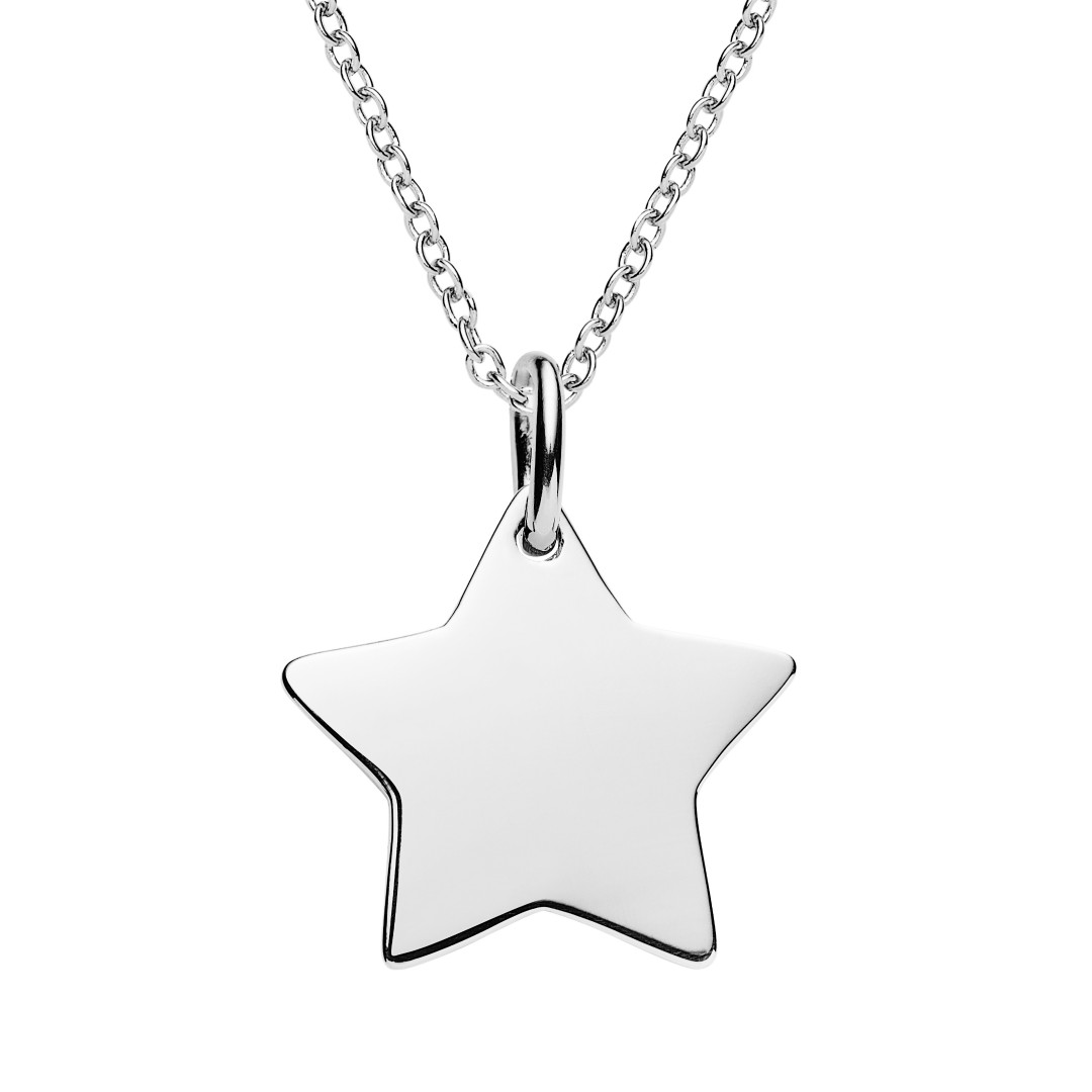 engrave this star necklace