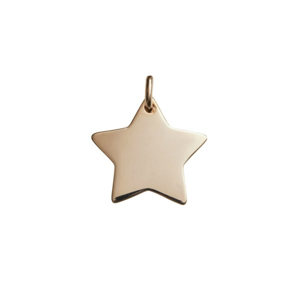 rose gold star pendant