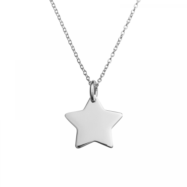 Silver star pendant customise your jewellery the silver store silver star pendant aloadofball Choice Image