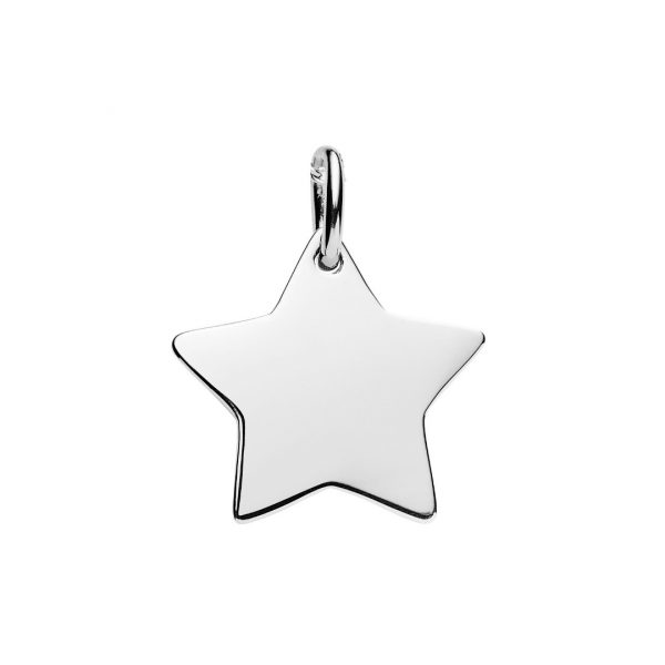 Silver star pendant customise your jewellery the silver store engravable star pendant aloadofball Choice Image