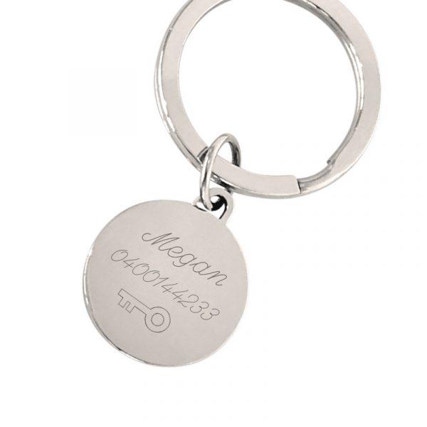 9fa20801a522 Engraved Keyring - Personalised Unisex Key Tag