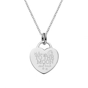 engraved love you to moon and back