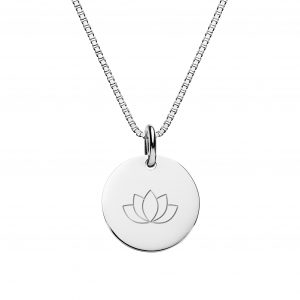 sterling silver engarved necklace