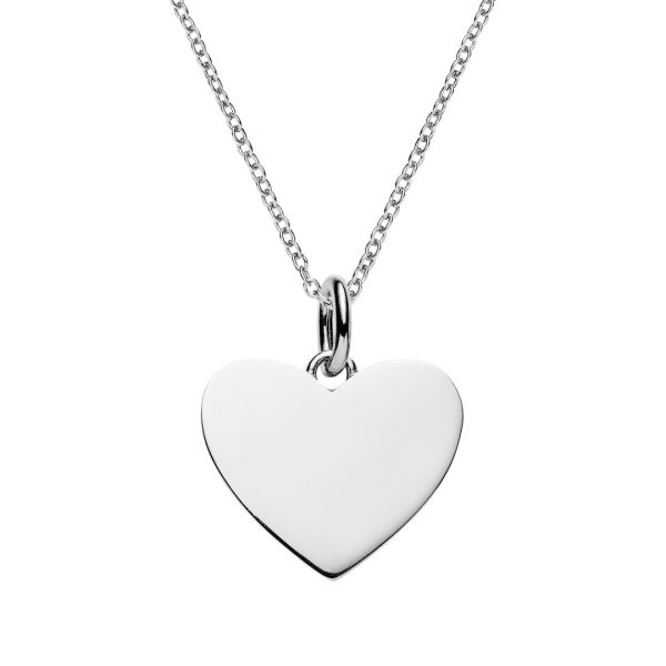 Personalised silver heart necklace engraved jewellery from the engravable heart necklace aloadofball Choice Image