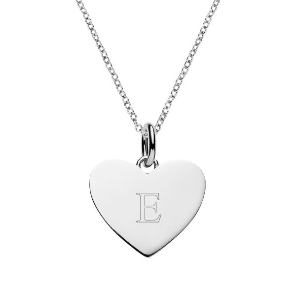 Personalised silver heart necklace engraved jewellery from the personalised silver heart necklace mozeypictures Gallery