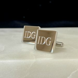 monogram cufflinks engraved with initials