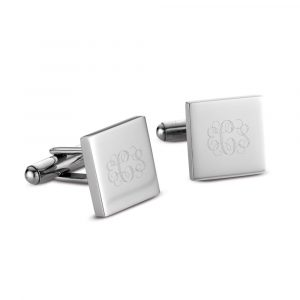 cuff links interlocking monogram