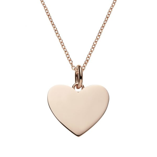 personalied jewellery collection - rose gold heart necklace