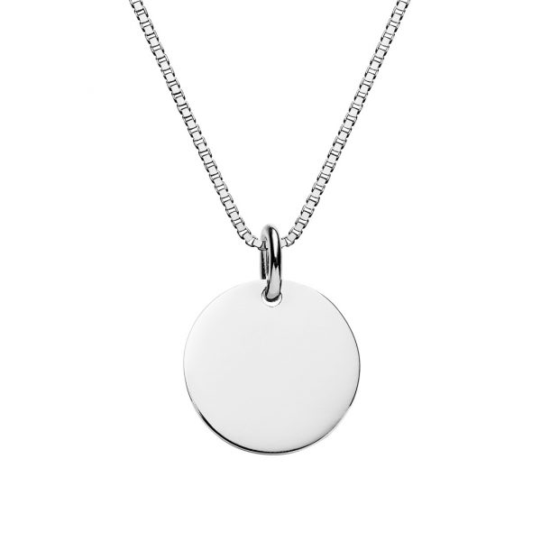Personalised disc necklace engraved jewellery from the silver sterling silver engarved necklace mozeypictures Choice Image