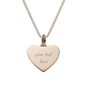 Engrave your text on this heart necklace