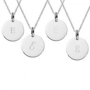 silver initial necklaces