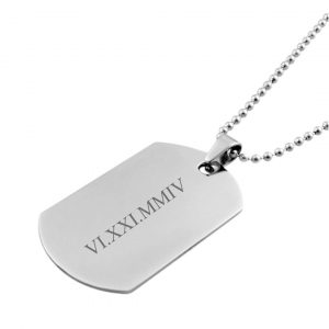 personalised men's necklace