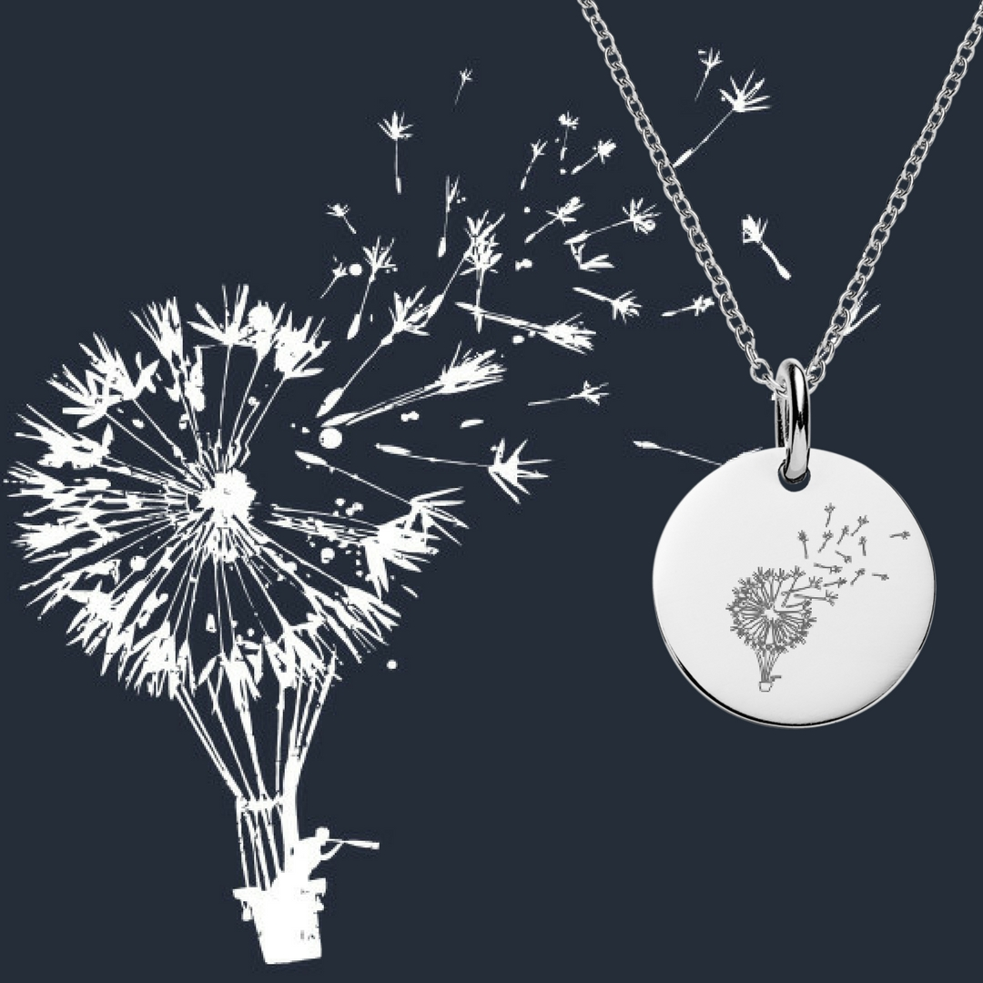 dandelion balloon engraving design