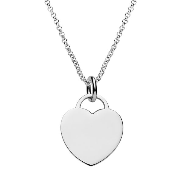 engraved heart tag necklace