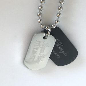 mens personalised necklace