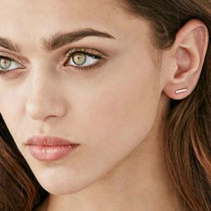 cylinder stud earrings