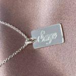 name silver bar necklace