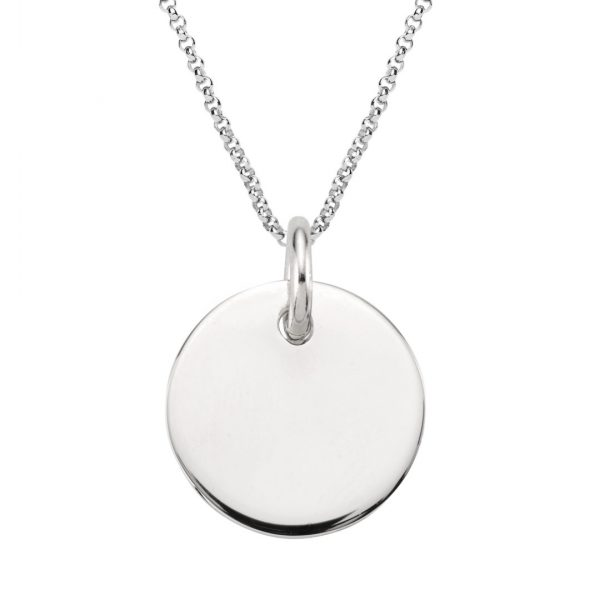 large 20mm disc necklace