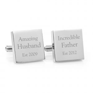 cufflinks engraved with husband father