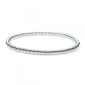 3mm Sterling Silver Bead Bracelet