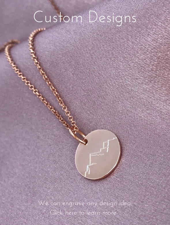 custom designed engraving for jewellery