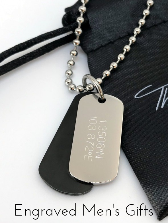 mens engraved dog tag necklaces