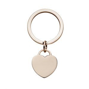 personalised rose gold heart keyring you can engrave