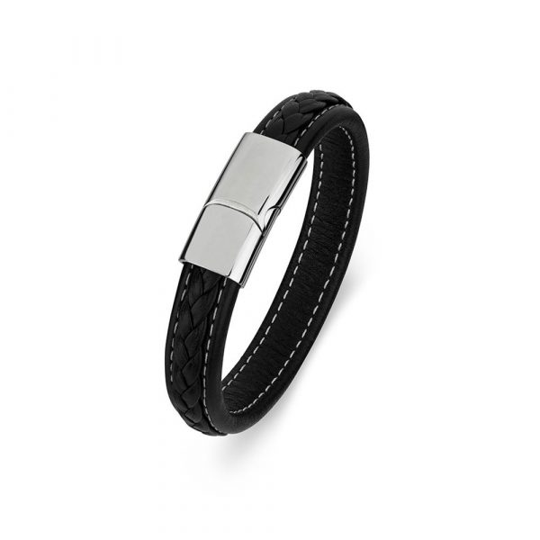 men's leather bracelet engravable