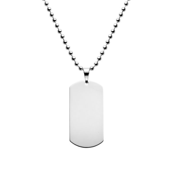 sterling silver dog tag necklace 18 x 36mm