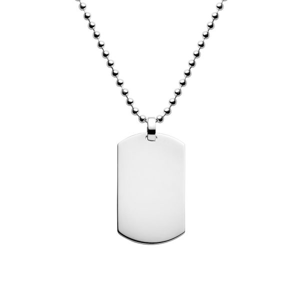 wide sterling 925 silver dogtag necklace for men add any text or picture